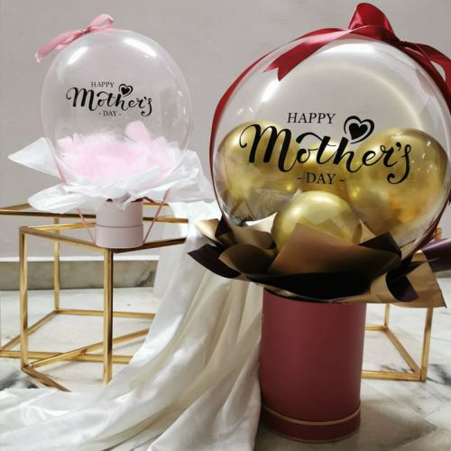 Happy Mother's day balloon gift box and bouquet