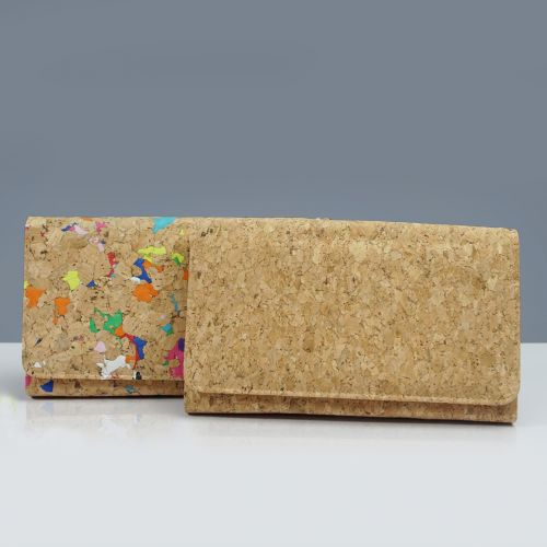 EcoQuote Long Wallet 3 Ways Use Handmade Cork Eco Friendly Material Great for Vegan