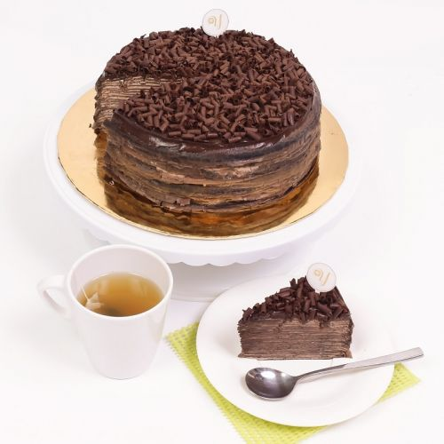 Dark chocolate Mille Crepe