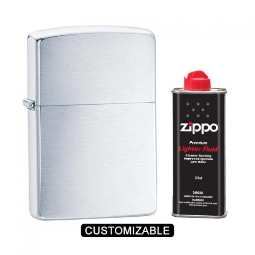 Zippo 200 Reg Classic Brushed Chrome Lighter