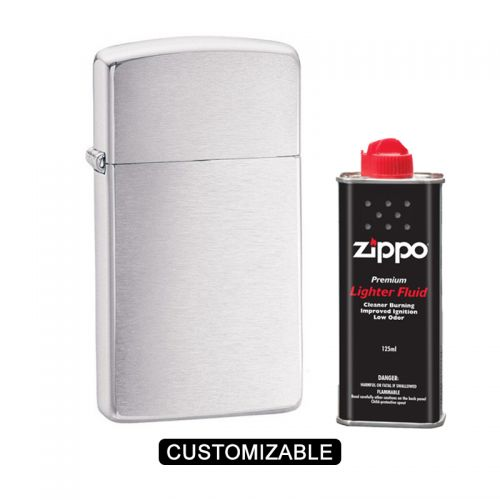 Zippo 1600 Slim Brushed Chrome Lighter