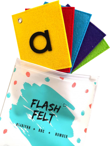 ABC Lowercase Alphabets Flash Card Felt Soft Toys