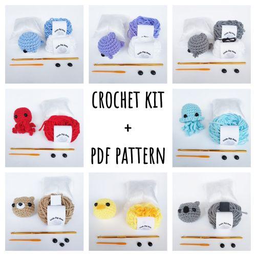 Crochet Amigurumi Animal Kit Material Package