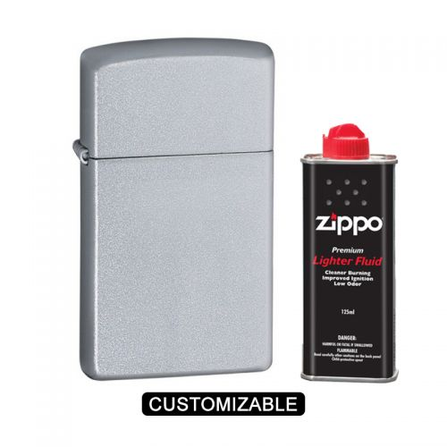 Zippo 1605 Slim Satin Chrome Lighter