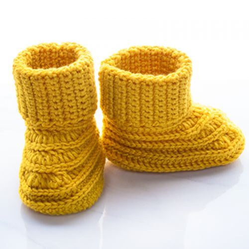 Handmade Crochet Baby Winter Boot