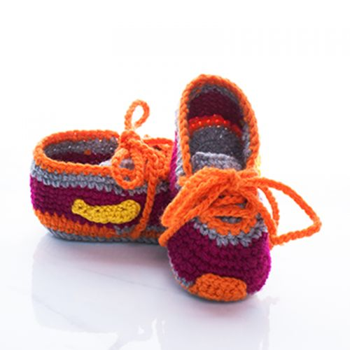 Handmade Crochet Baby Nike Shoes