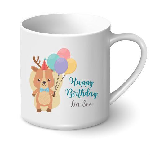 Personalised Birthday Mug - Cute Animal Series (Deer)