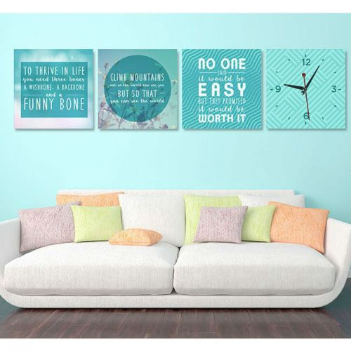 MOTIVATIONAL QUOTES DECOR WITH WALL CLOCK - Z4647