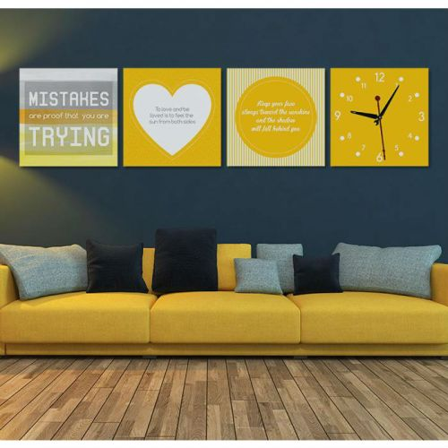 MOTIVATIONAL QUOTES DECOR WITH WALL CLOCK - Z4638