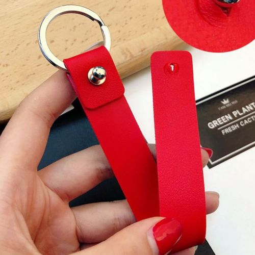 Personalised Engrave PU Leather+Stainless Steel Keyring
