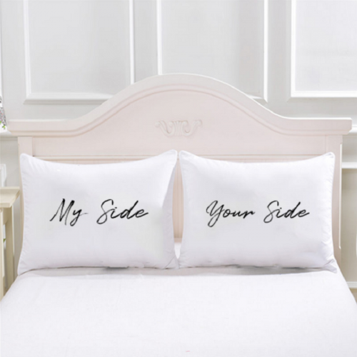 Couple Pillow & Cover -  'My Side & Your Side'