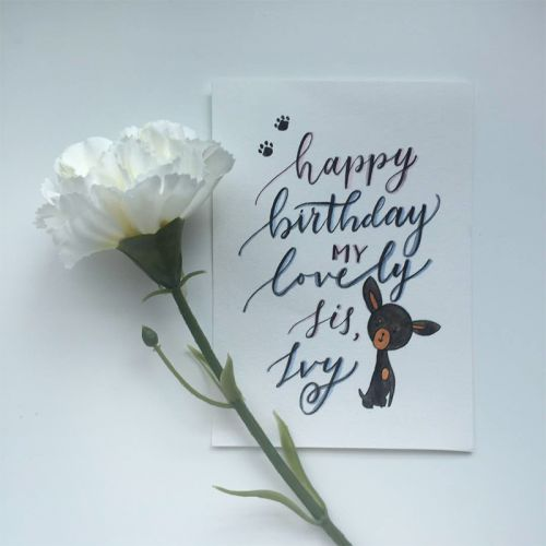 Custom Calligraphy Cards (Watercolor Design)
