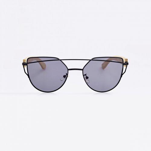 Cat Eye Bamboo Sunglasses - Black C011