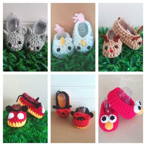 Crochet Character Baby Booties