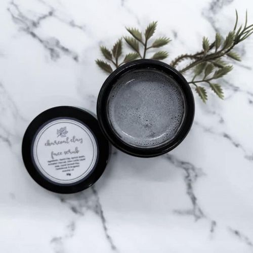 Charcoal Clay Face Cleanser Scrub with Apricot Beads (for men)