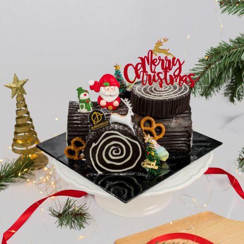 Chocolate Log Cake (Christmas Cake)