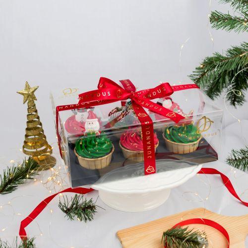 Christmas Buttercream Cupcakes (Christmas Cake)