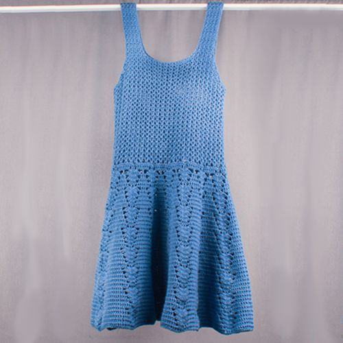 Hand Knitted Lady Dress