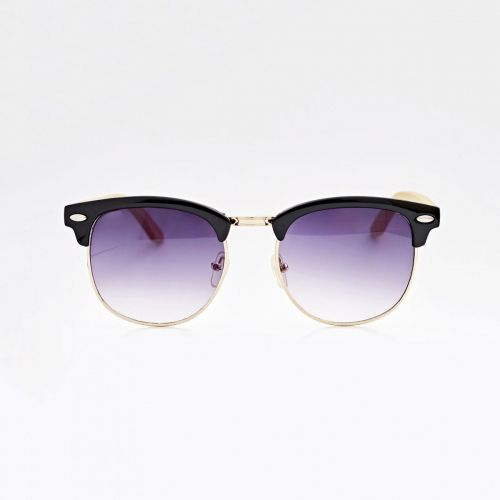 Clubmaster Bamboo Sunglasses - Black C017