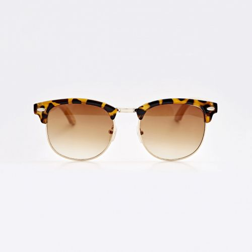 Clubmaster Bamboo Sunglasses - Brown C016