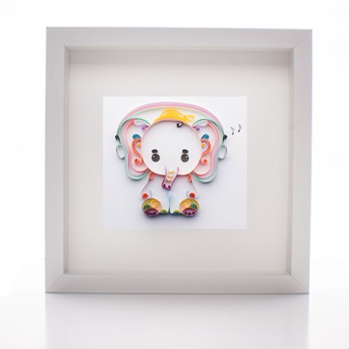 Baby Elephant Paper Quilled