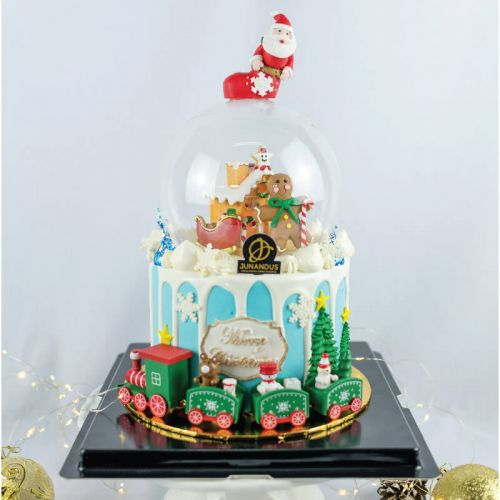 Crystal Ball Fondant Christmas Cake (Christmas Cake)
