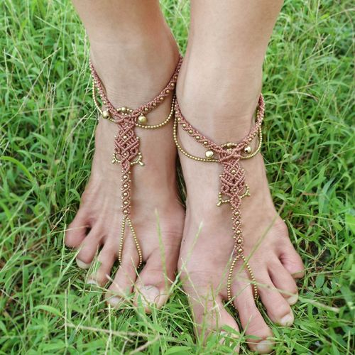 Macrame Gypsy Link Anklet
