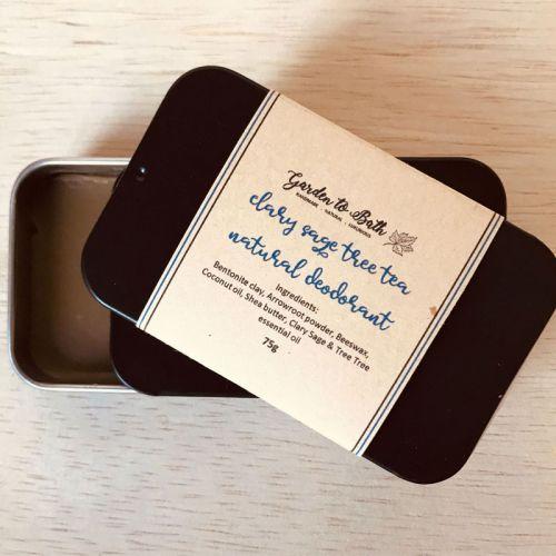 Clary Sage & Tea Tree Natural Deodorant