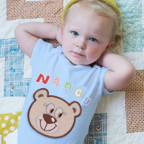 Personalized Baby Romper With Double-Sided Patches