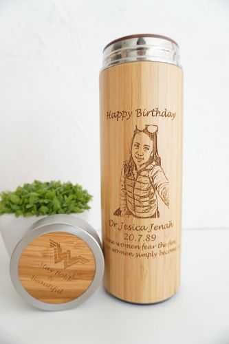 Bamboo (Wood-like) Thermal Flask