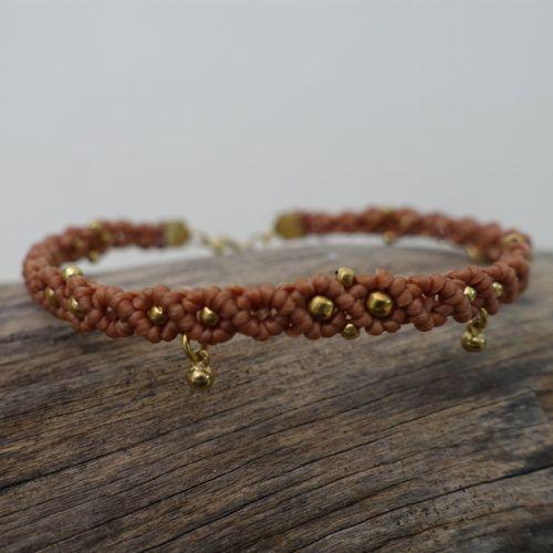 Dangle Drop Beads Macrame Bracelet 【BC 03】