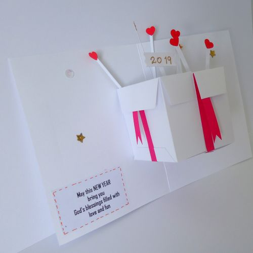 Pop-up card (New year or Birthday)