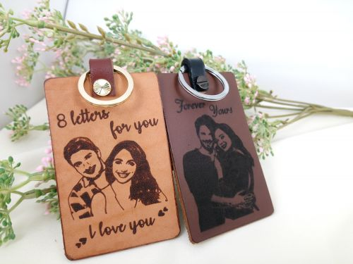 Image Leather Travel Tag