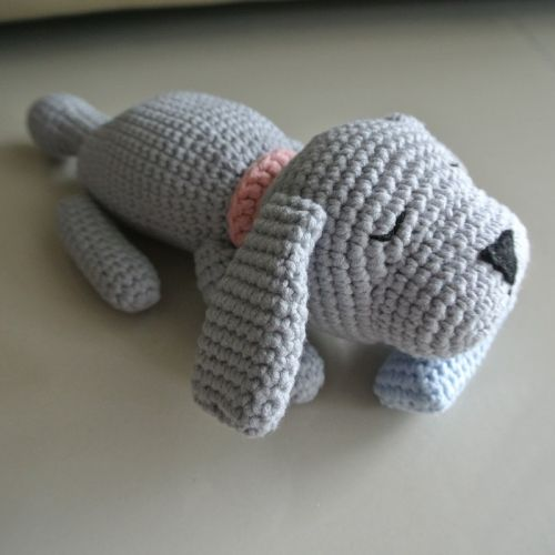 Crochet Sleepy Doggie Amigurumi
