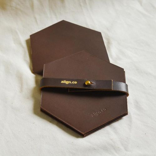 Genuine Leather Coasters (Set of Four)