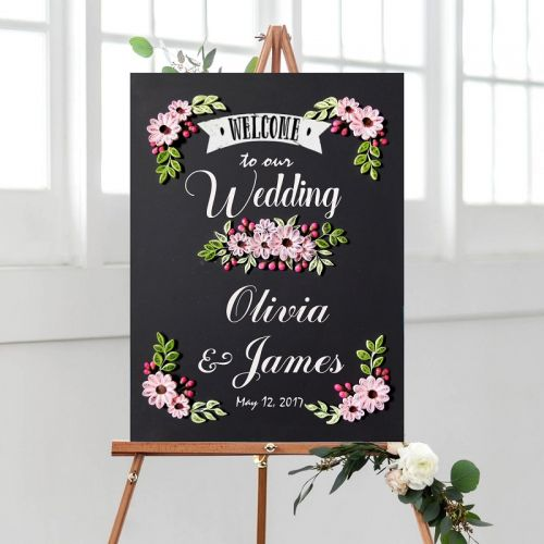 Wedding Chalkboard Series : Pinky Carnation