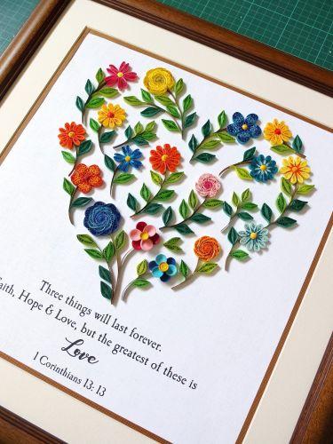 Heart  Florals Mosaic