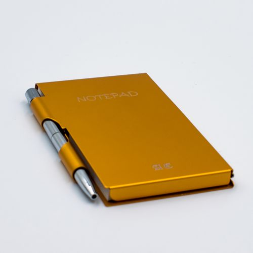 Gold Stainless Steel  Note Pad + FREE ENGRAVING