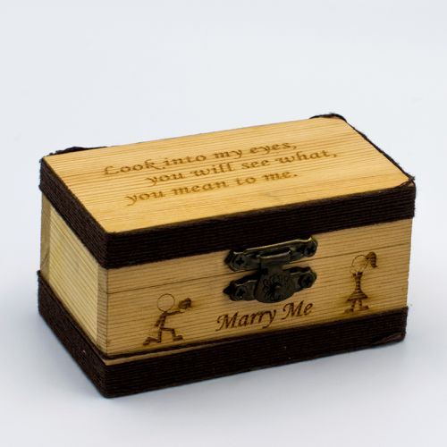 Wood Box (Small) + FREE ENGRAVING