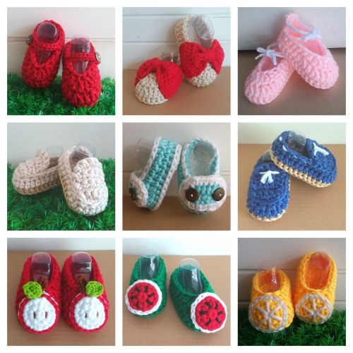 Crochet Fancy Baby Booties