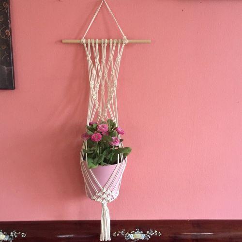 Handmade Macrame Wall Plant Hanger