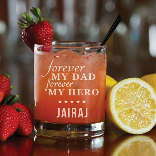 'Forever My Dad' Personalized Rock Glass (Single) 10 OZ