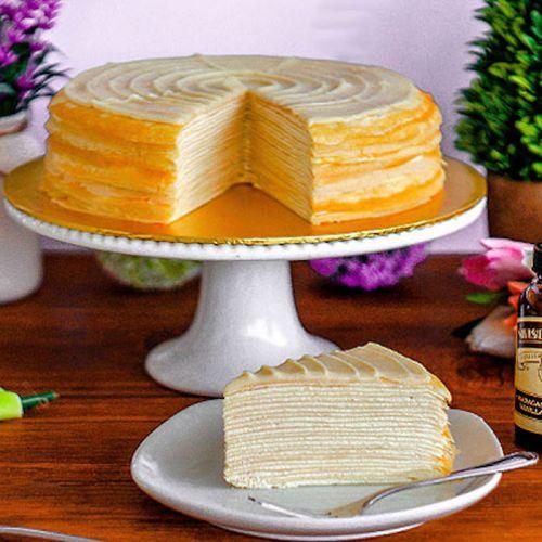Madagascar Vanilla Mille Crepe Cake