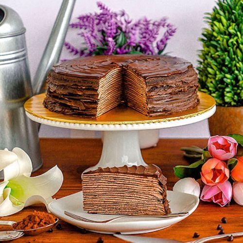 Triple Chocolate Mille Crepe Cake