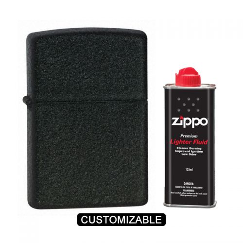 Zippo 236 Reg Black Crackle Lighter