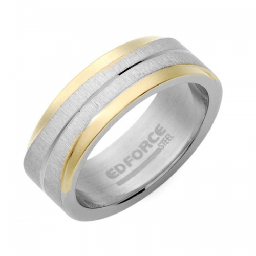 Stainless Steel Two Tone Color Gentlemen's Ring