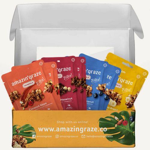 Amazin' Graze Granola Variety Box 8x40g