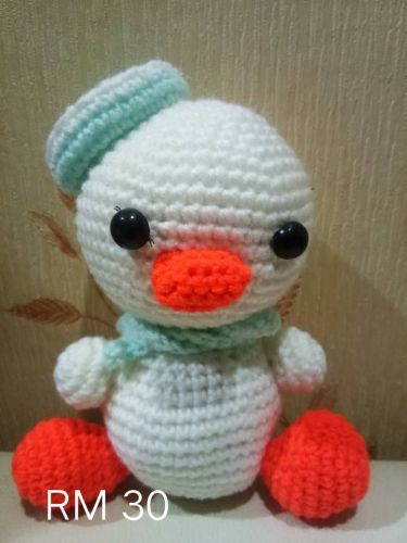 Crochet Sailor Duck Doll