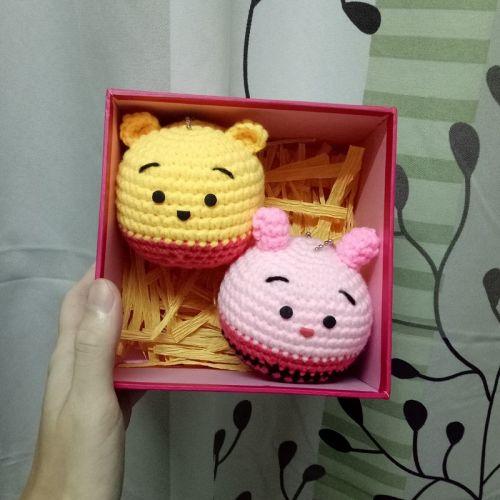 Crochet Gift Set - Winnie The Pooh & Piglet