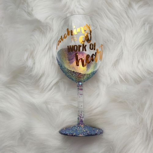 Glitter Wine Glass - Seville